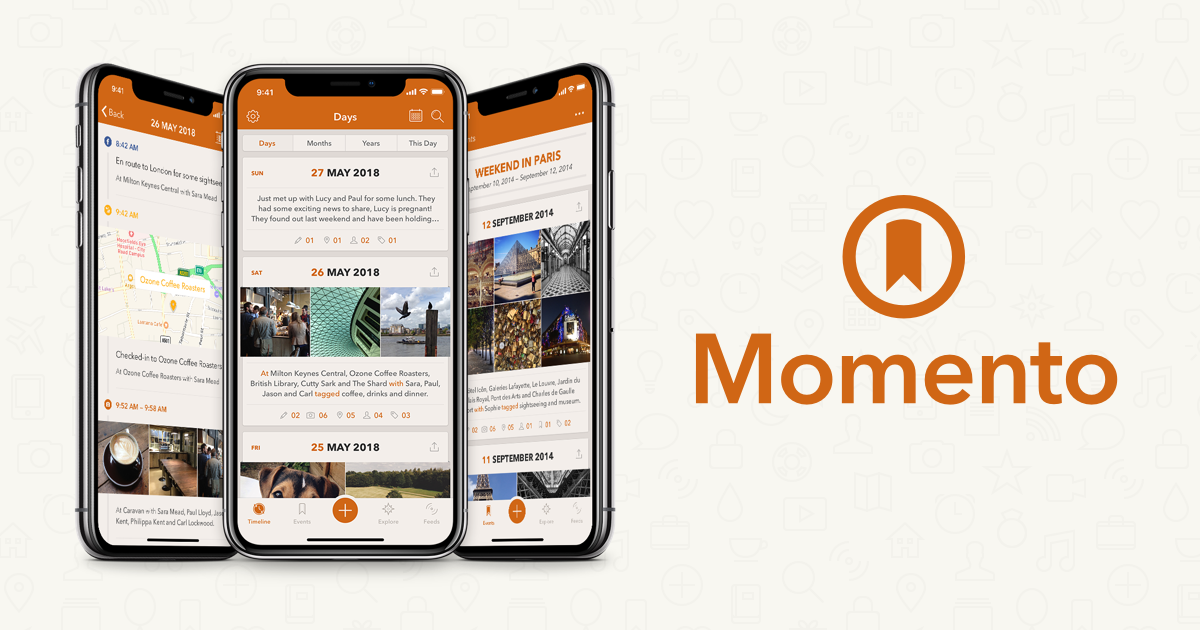 Momento — the smart private journaling app for iPhone.